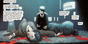 Młody Bruce Wayne nad ciałami swoich rodziców