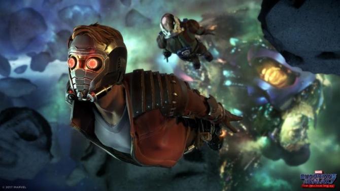 Star Lord i Drax ze Strażników Galaktyki od Tellate w przygotowanej recenzji gry