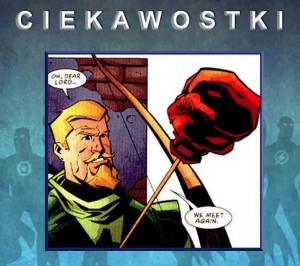 Green Arrow strzała z rękawicą