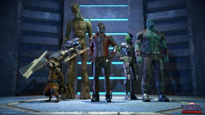 Pełna drużyna Strażników Galaktyki w przygotowanej recenzji gry