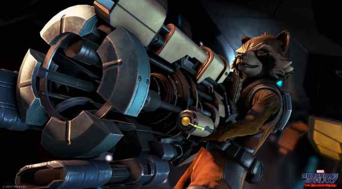 Rocket z bronią ze Strażników Galaktyki od Telltale