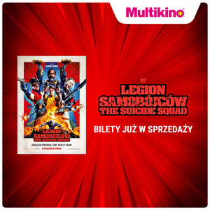 baner multikina o sprzedaży biletów na film The Suicide Squad